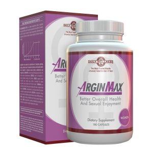 Bottle and box of the Arginmax Women Enhancer