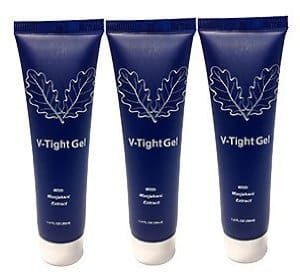 Three bottles of V-Tight Gel